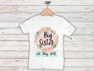 Pregnancy Announcement Kids Tshirt I'm Going To Be A Big Sister Tshirt Pregnancy