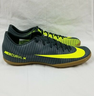 low priced f8393 e40c2 NIKE MERCURIALX VICTORY VI CR7 IC Shoes Men's Sz 8 Seaweed 852526-376 Soccer