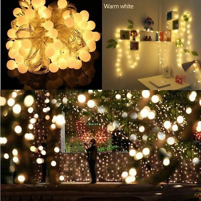 10M Outdoor Lighting Patio Party Globe Ball String Lights Bulb Set 100 LEDs