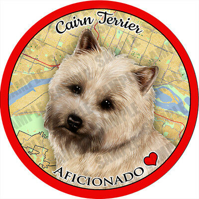 Cairn Terrier Absorbent Porcelain Dog Breed Car Coaster