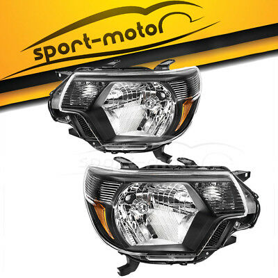 Pair Headlights Kit for 2012-2015 Toyota Tacoma Pickup Factory Style 2013 2014
