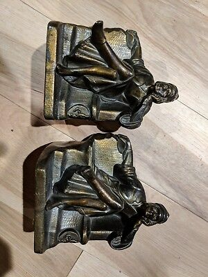 Antique Bookends - Man in Pajamas on Sofa