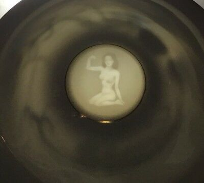 Japan Dragonware Moriage W/Nude Geisha Flexing Muscle Lithophane Cup & Saucer