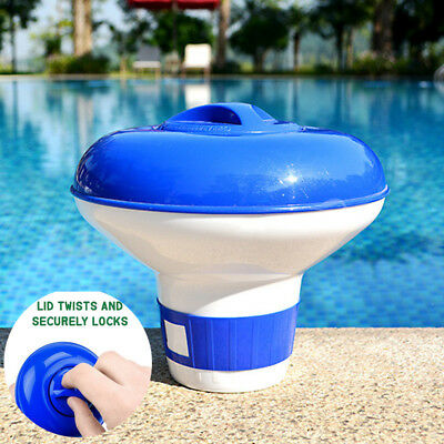 Swimming Pool Floater Chlorine Dispenser Spa Cleaner Bromine Chemical Tablet Tab