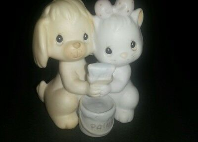 Precious Moments True Blue Friends Members Only Kitten Puppy Hugging Figurine