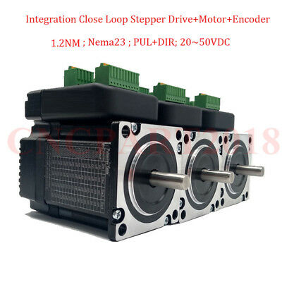 4Axis 1.2NM 3A NEMA23 Stepper Motor Closed-loop with Driver Integrated 8mm Shaft