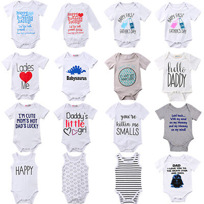 AU Newborn Infant Baby Boy Girl Cotton Romper Bodysuit Jumpsuit Outfit Clothes