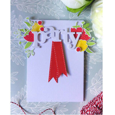 Letter Words you Metal Cutting Dies For DIY Scrapbooking Card Craft Decor  X