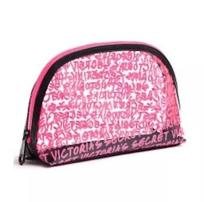 9fe7bc09f9 VICTORIA S SECRET WICKED Pink Graffiti Makeup Cosmetic Bag NWT ...