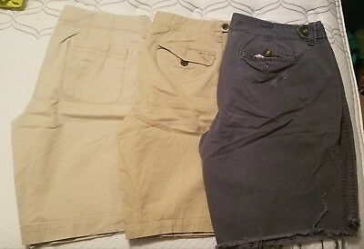 Lot Of 3 Old Navy Bermuda Shorts Womens 10 Khaki Blue