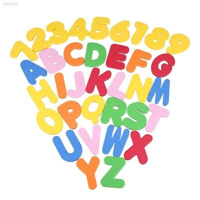 36 PCs Bath Toys Letters Numbers Stick On The Wall Safety Educational Toys 054F