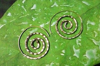Earrings Solid Brass Ethno Vintage Antique New Style Hoop Goa Ear Hanging