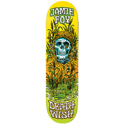 "Deathwish Skateboard Deck Jamie Foy Buried Alive 8.125"" FREE GRIP & FREE POST"