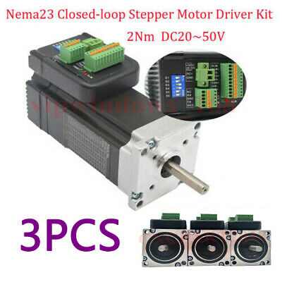 3Axis NEMA23 Hybrid Integrated Stepper Motor Closed-loop Driver 3A 20~50V CNC
