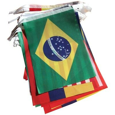 Brazil World Cup Fabric Bunting- All 32 Flags 9 Metres O6B9