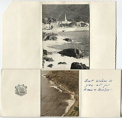 ST HELENA • ca1960 • Two locally made greeting cards with real photo local views