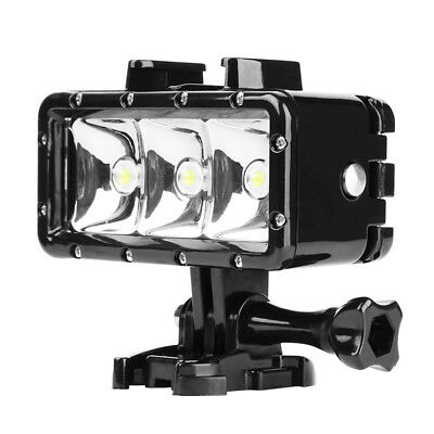Shoot Waterproof Underwater LED Bulb Diving Fill Light Dimmable For Gopro 3192