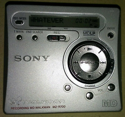 Sony MD MZ R700  . Minidisc MD Player / Recorder