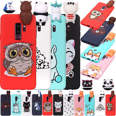 3D Cute Cat Dog Cartoon Soft Silicone Rubber Case Phone Cover For Samsung Galaxy