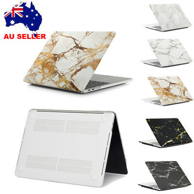 Rubberized Marble Hard Skin Shell Case Cover for Apple Macbook Pro Air Laptop