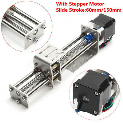 New Z axis CNC Ball Screw Slide 100 200 300mm Stroke + Actuator Stepper Motor