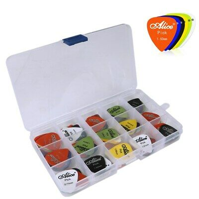 100pcs Guitar Picks Acoustic Electric Plectrums Celluloid Assorted Colors UK