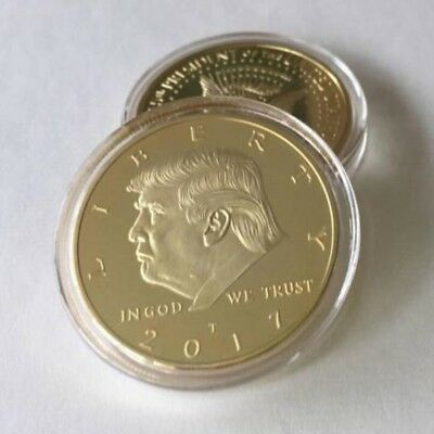 Donald Trump Inaugural Eagle Commemorative Souvenir Gold Coin Collection B716