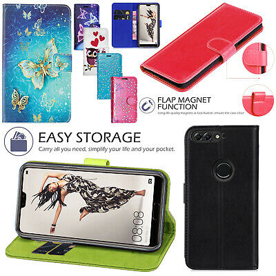 For Huawei Y7 Prime 2018 Shockproof Premium Leather Wallet Stand Flip Case Cover Cases, Covers & Skins