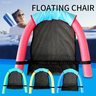 Noodle Pool floating Pool Chair With Mesh Swimming Seat Bed Buoyancy Stick 7595