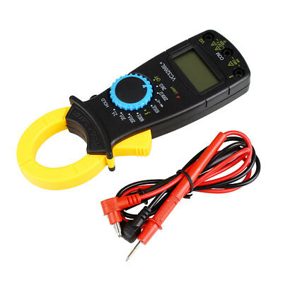 LCD Digital Clamp Multimeter AC DC Volt Amp Ohm Electronic Tester Meter 12BF