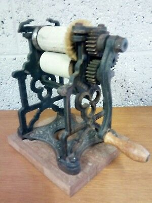 Antique Vintage Cast Iron Press, Rare, Mechanical, Decorative, Collectable,