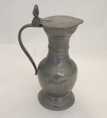 A Vintage Pewter Measure / Jug with Lid - French