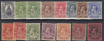 Turks & Caicos 1922 - 26   S G  162 - 175 Varvalues To 3/-  Black Mh Some Toning