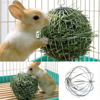 Feed Dispense Exercise Hanging Hay Ball Guinea Pig Hamster Rabbit Pet Toy 77E2