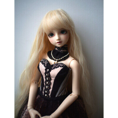 1/3 BJD Doll Full Wig 9-10inch 22-24cm for DOD SD DZ LUTS Gold Curly Hair