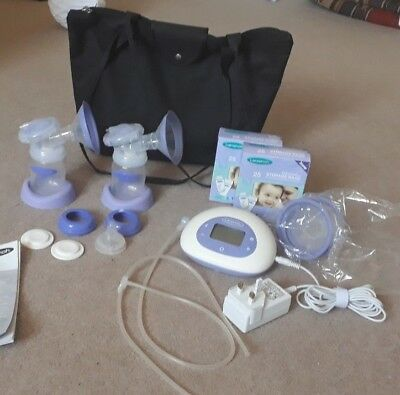 Lansinoh 2 in 1 Double Electric Breast Pump with 50 SEALED milk collection bags
