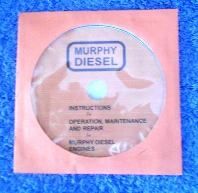 MURPHY DIESEL Instruction, Maintenance and Repair  Engine Manual on CD-ROM