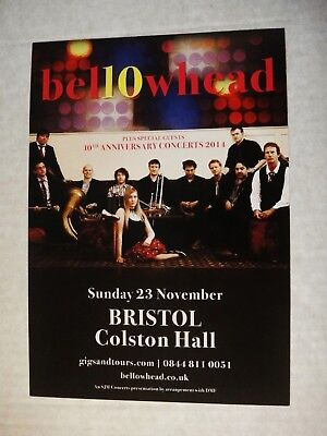 Bellowhead - A5 Gig Flyer From 2014 Colston Hall, Bristol
