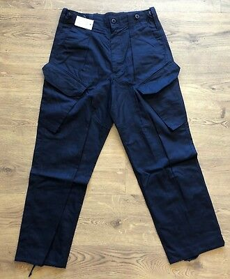 British Royal Navy Blue New Style PCS Combat Trousers - All sizes - Used