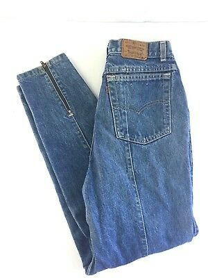 Vintage LEVI STRAUSS Jeans USA Made Back Zipper Women's size 13 High Rise Mom