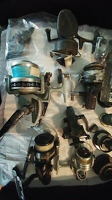 Mega lot of Vintage Fishing Reels & Misc Parts! Lots of great fishing gear/parts
