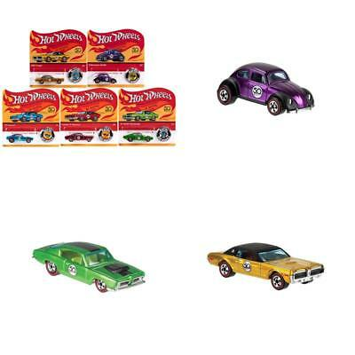 Hot Wheels 2018 50th Anniversary Originals Redlines Series Complete Set of 5