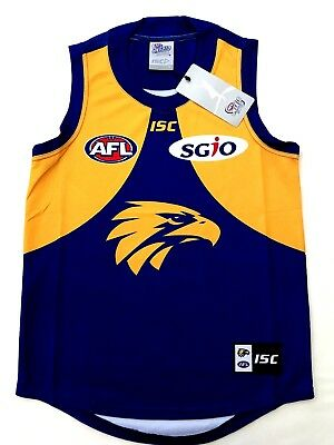 2018 West Coast Eagles AFL Home ISC Jersey NWT AUSSIE RULES GUERNSEY JUMPER