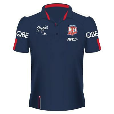 2018 Men's Sydney Roosters NRL Media Polo NWT ISC NEW RUGBY LEAGUE SHIRT ADULTS