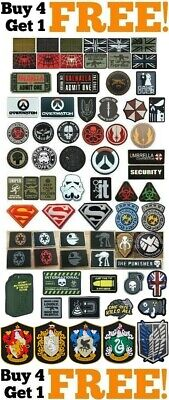 PVC Rubber Airsoft Paintball Military Tactical Patch Patches Badges Cosplay UK!