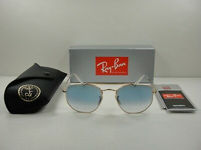 f8089adef324a Ray-Ban Marshal Sunglasses Rb3648 001 3F Gold Frame Light Blue Gradient 54Mm