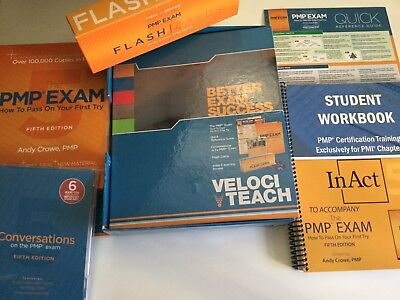 The Velociteach All-In-One PMP Exam Prep Kit w/ Workbook for PMBOK 5