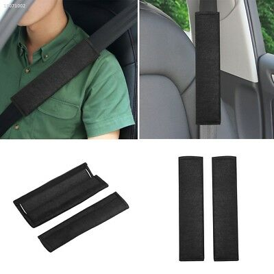 2Pcs Car Soft Seat Belt Shoulder Pads Safety Covers Padded Cushion Black FB72
