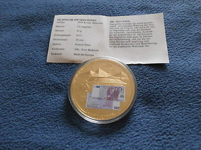 Medaille 500 Euro Banknote 50 mm Gigant  54 g