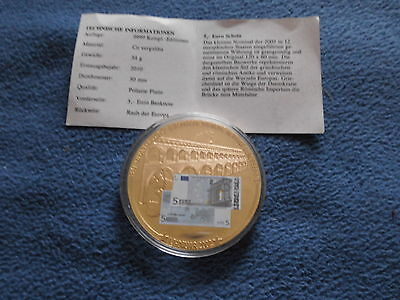 Medaille 5 Euro Banknote 50 mm Gigant  54 g